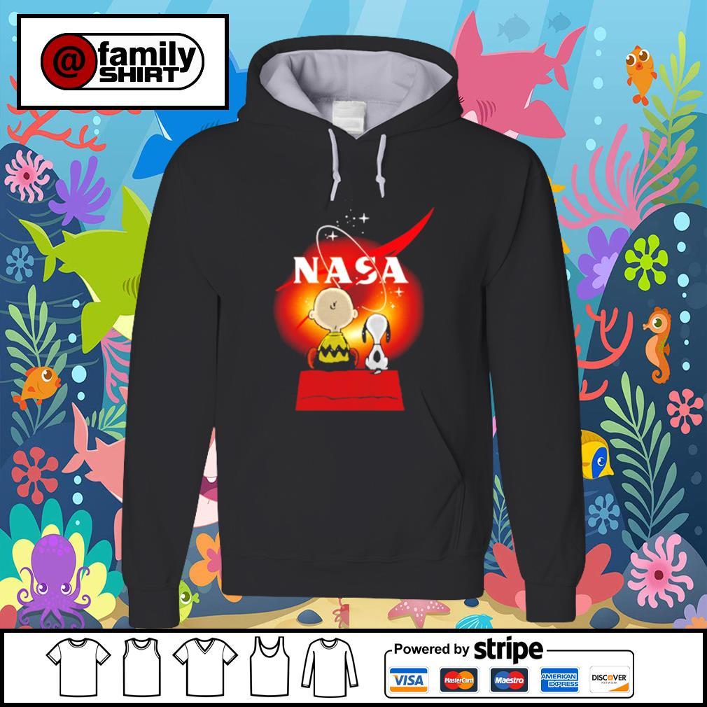 Snoopy And Charlie Brown Looking Black Hole Nasa Shirt hoodie