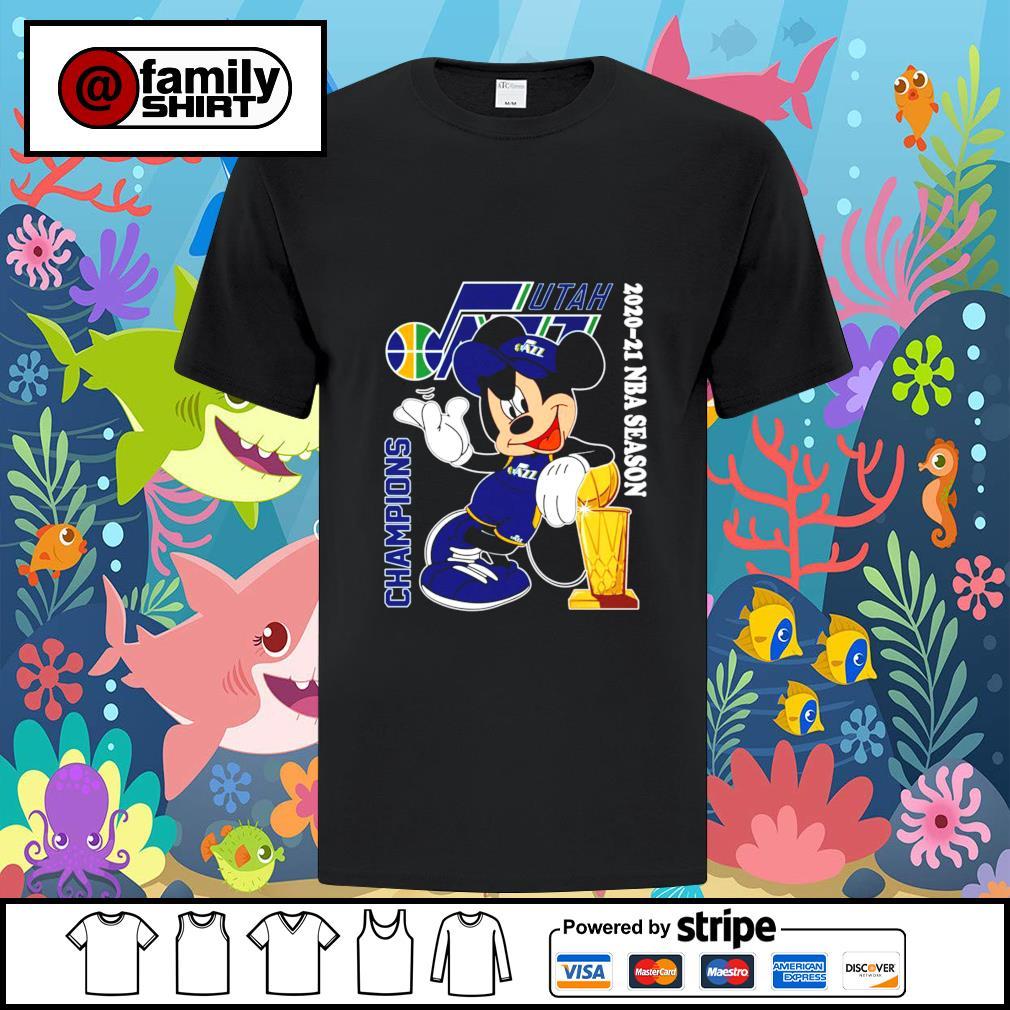 Utah Jazz Mickey 2020-21 NBA season champions shirt