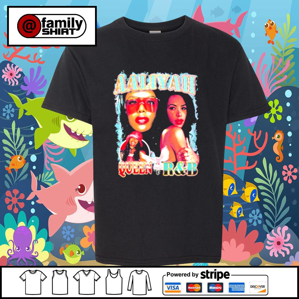 Aaliyah queen of R&B youth-tee