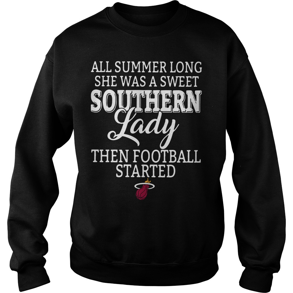 Miami Heat Summer Long Sweet Southern Lady Football Started Sweater