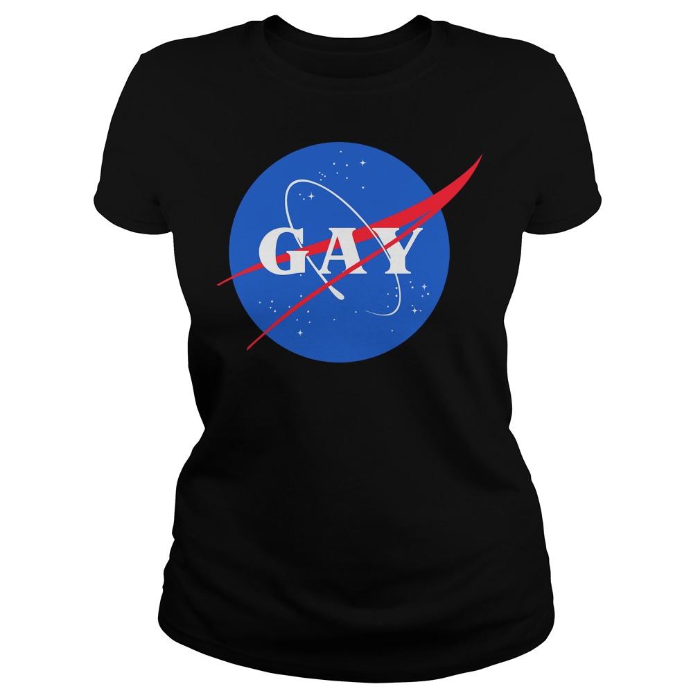 Nasa Gay Pride Logo Ladies Shirt