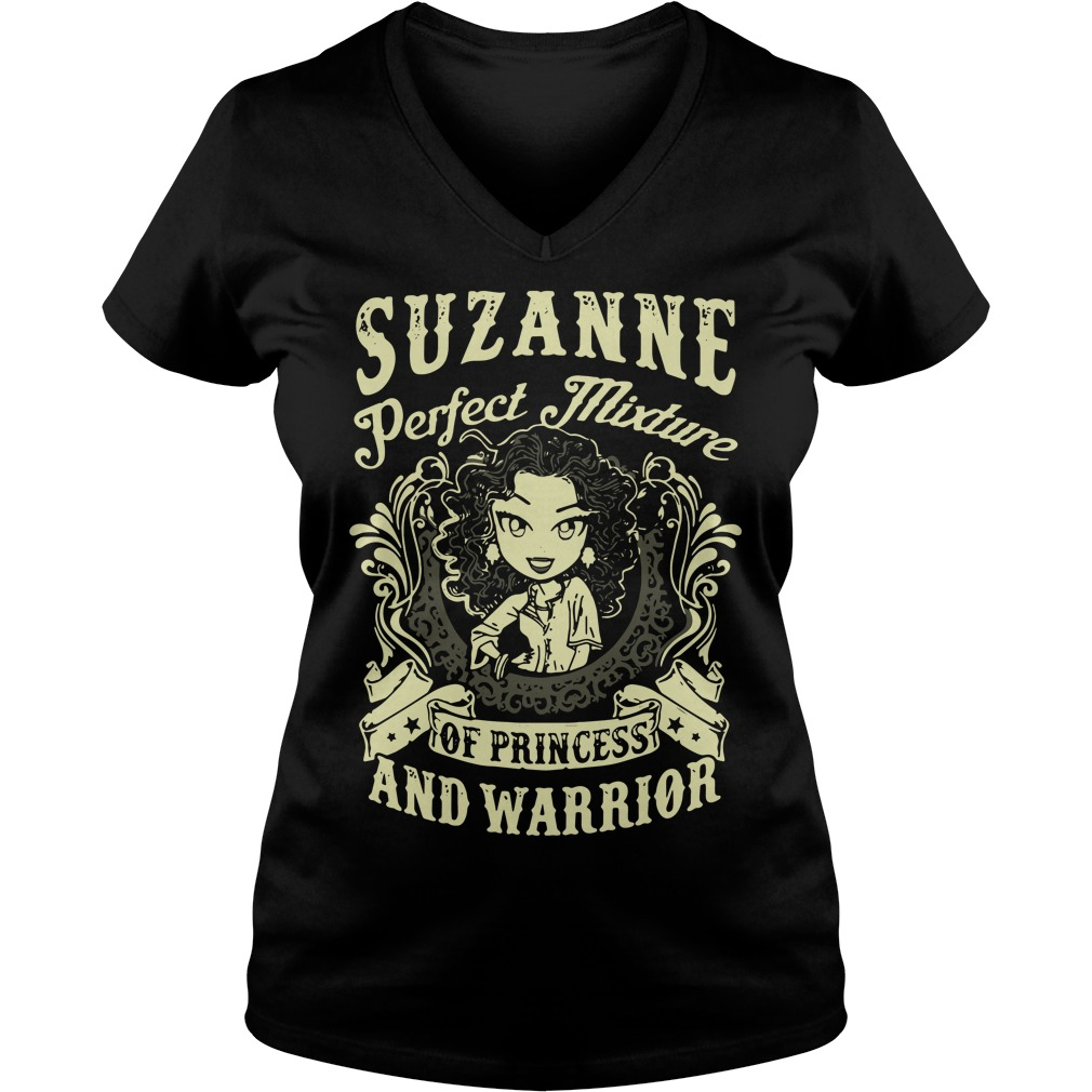 Suzanne Perfect Mixture Of Princess And Warrior V-neck T-shirt