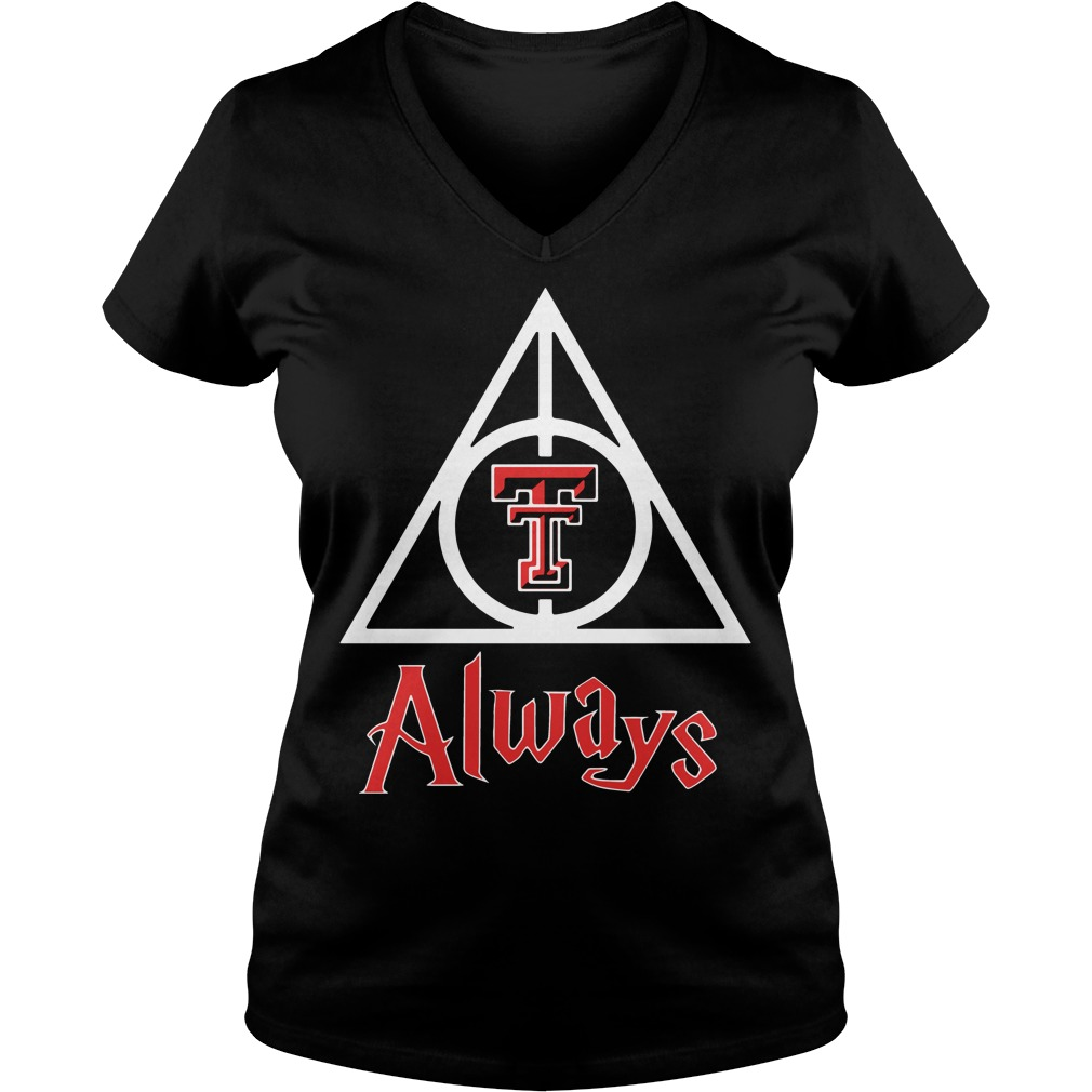 Texas Tech Red Raiders Deathly Hallows V-neck T-shirt