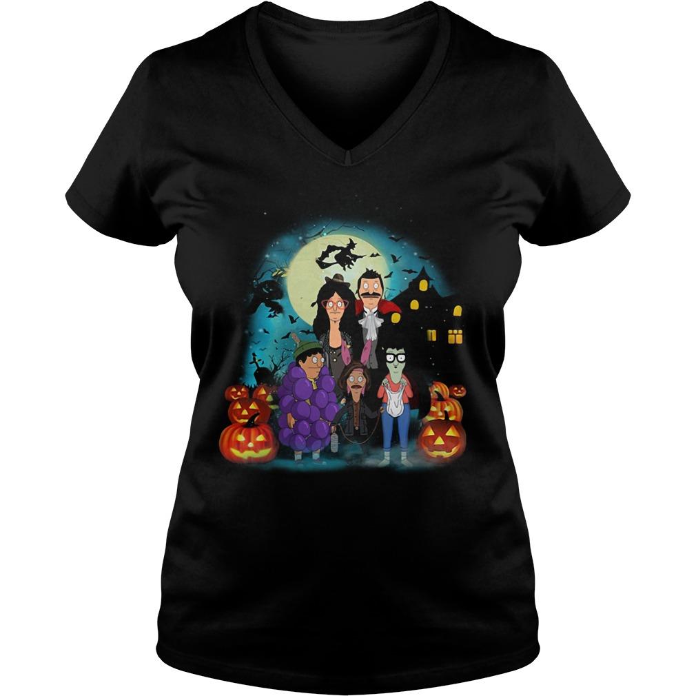 Bob's Burgers Family Halloween V-neck T-shirt