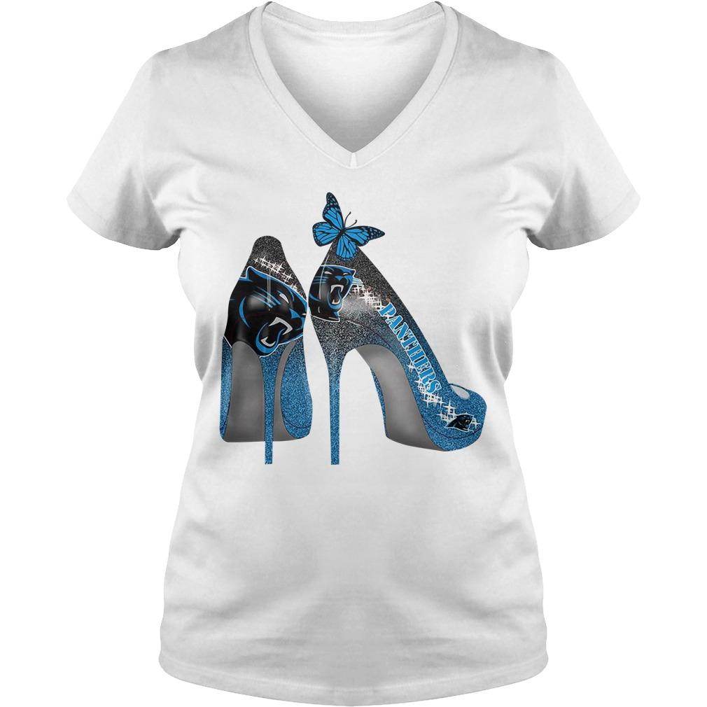 Carolina Panthers High Heels V-neck T-shirt