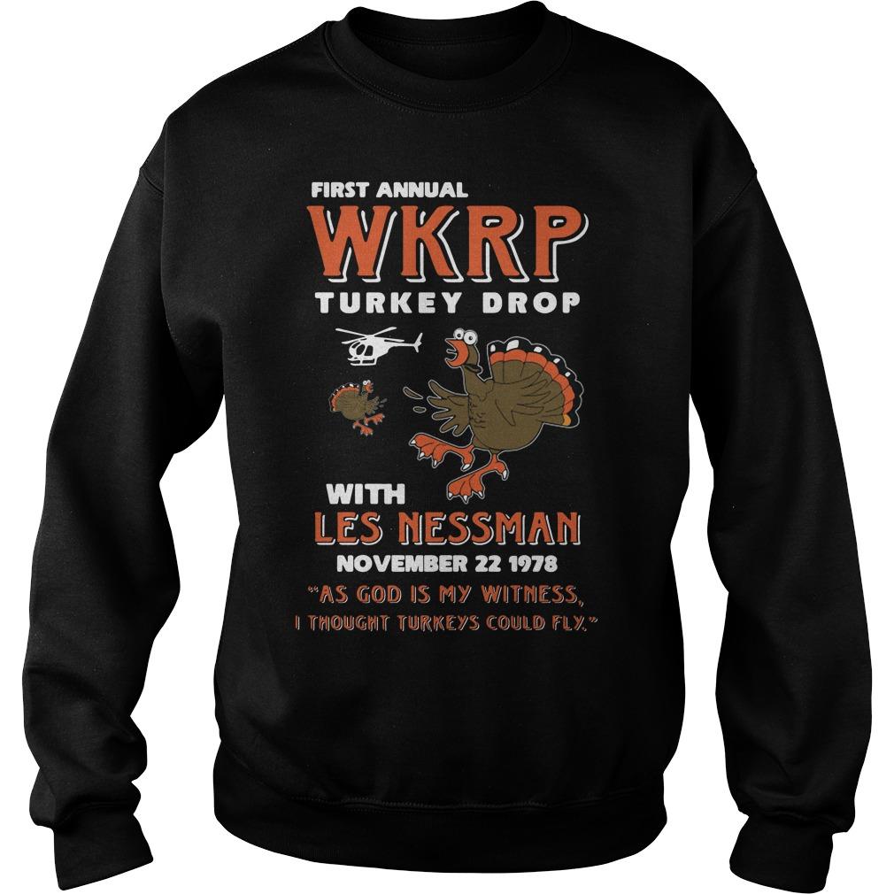 First Annual Wkrp Turkey Drop Sweater