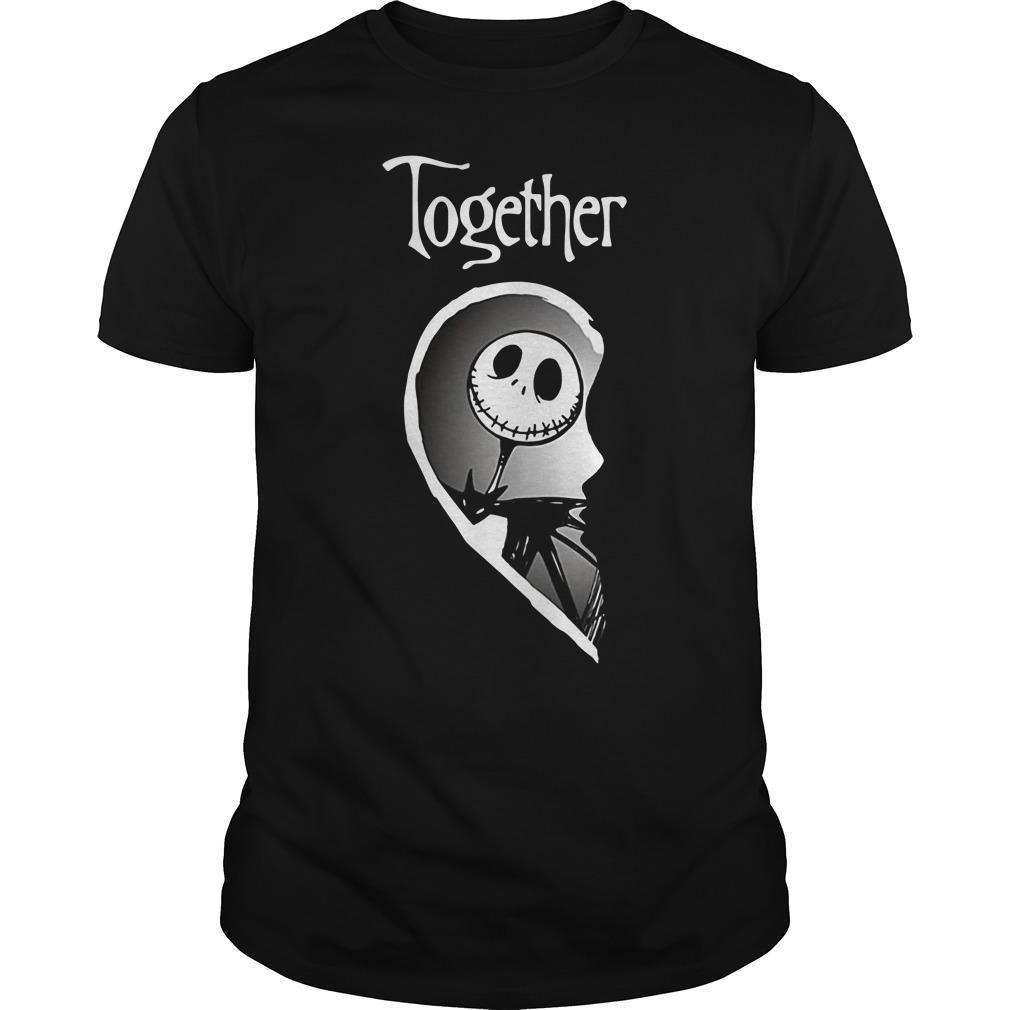 Halloween Jack Skellington Together Shirt