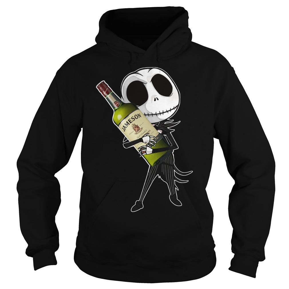 Jack Skellington Hug Jameson Irish Whiskey Hoodie