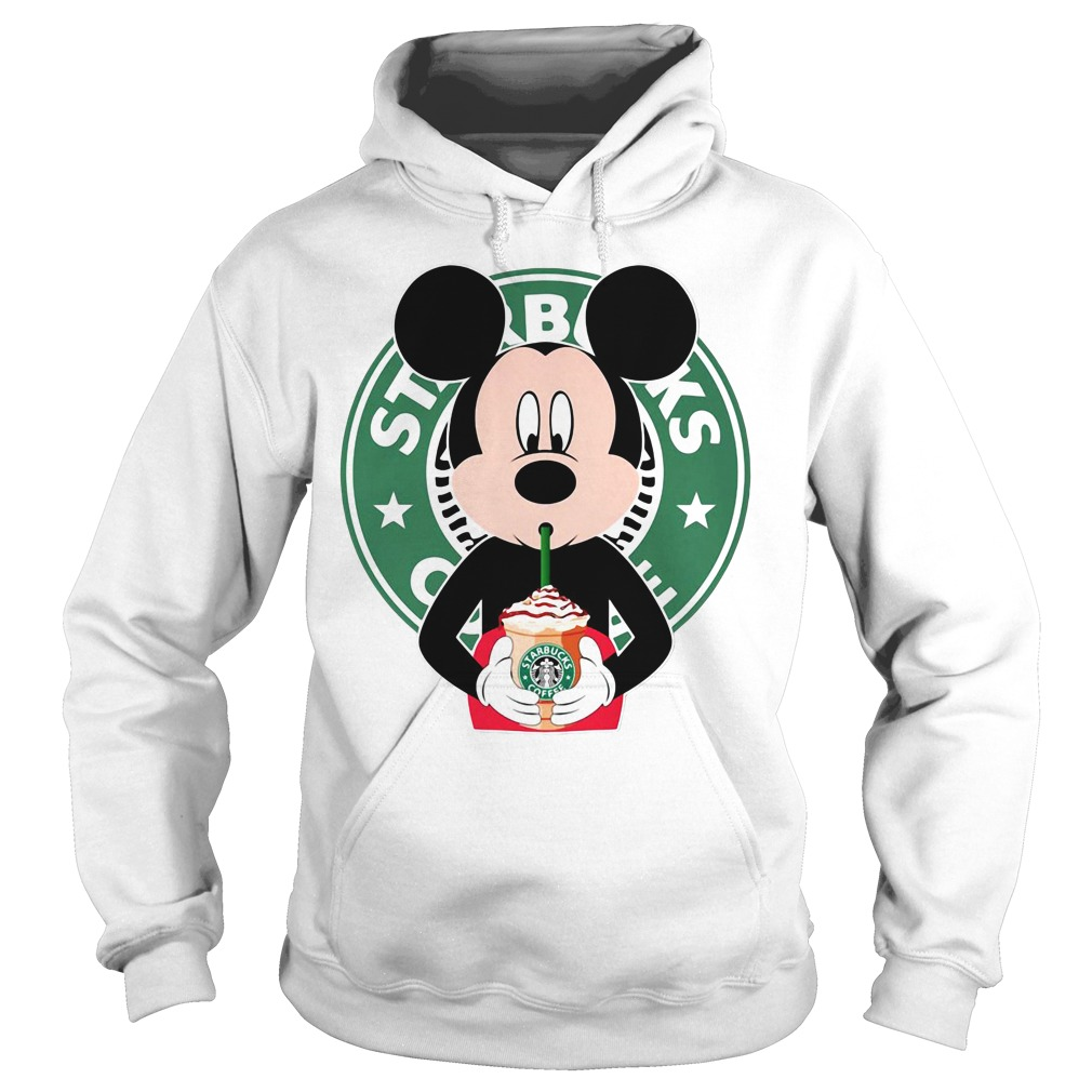 cf21fb018 Mickey Mouse drinks Starbucks coffee shirt