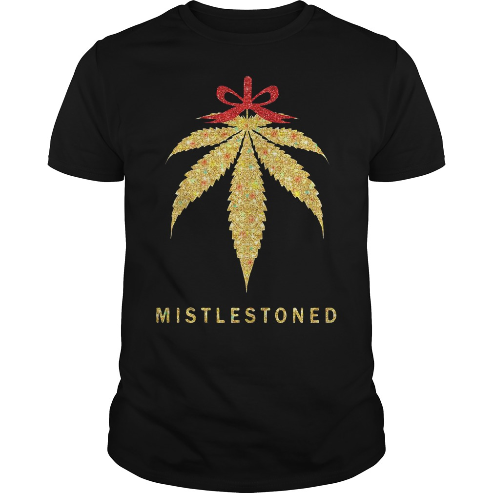 Mistlestoned Weed Christmas Guys Shirt