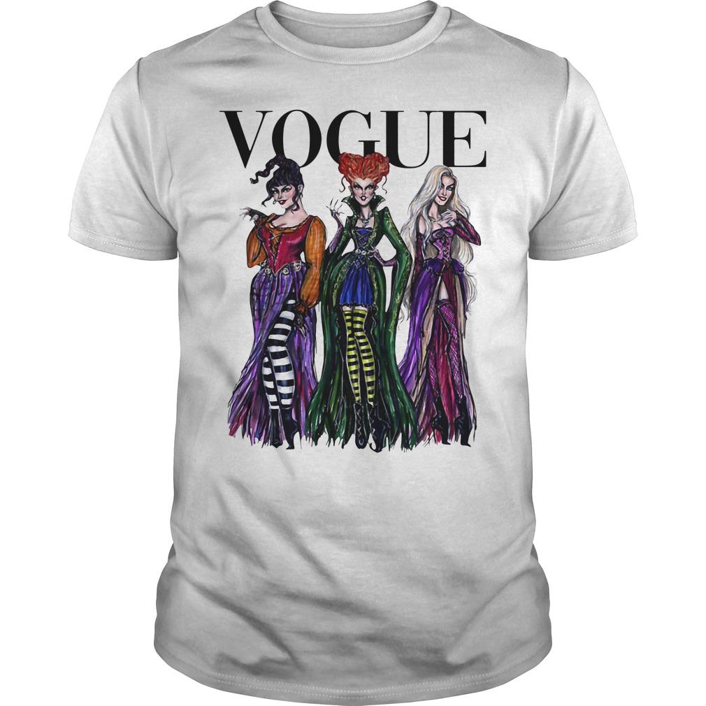 Official Hocus Pocus Vogue Halloween Shirt