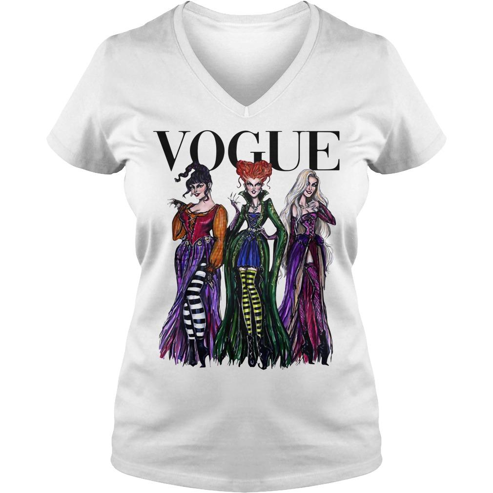 Official Hocus Pocus Vogue Halloween V-neck T-shirt