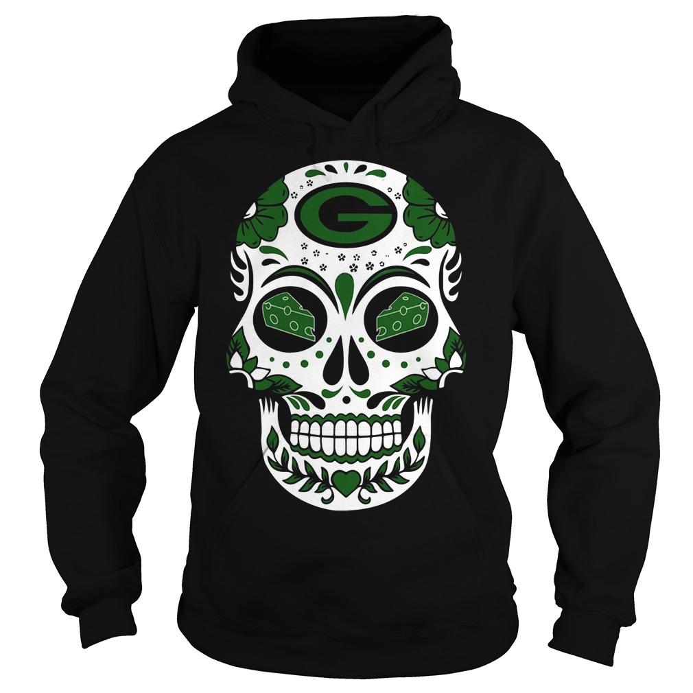 Green Bay Packers sugar skull with cheese eyes shirt - tshirtat11 ... 94fb2c617