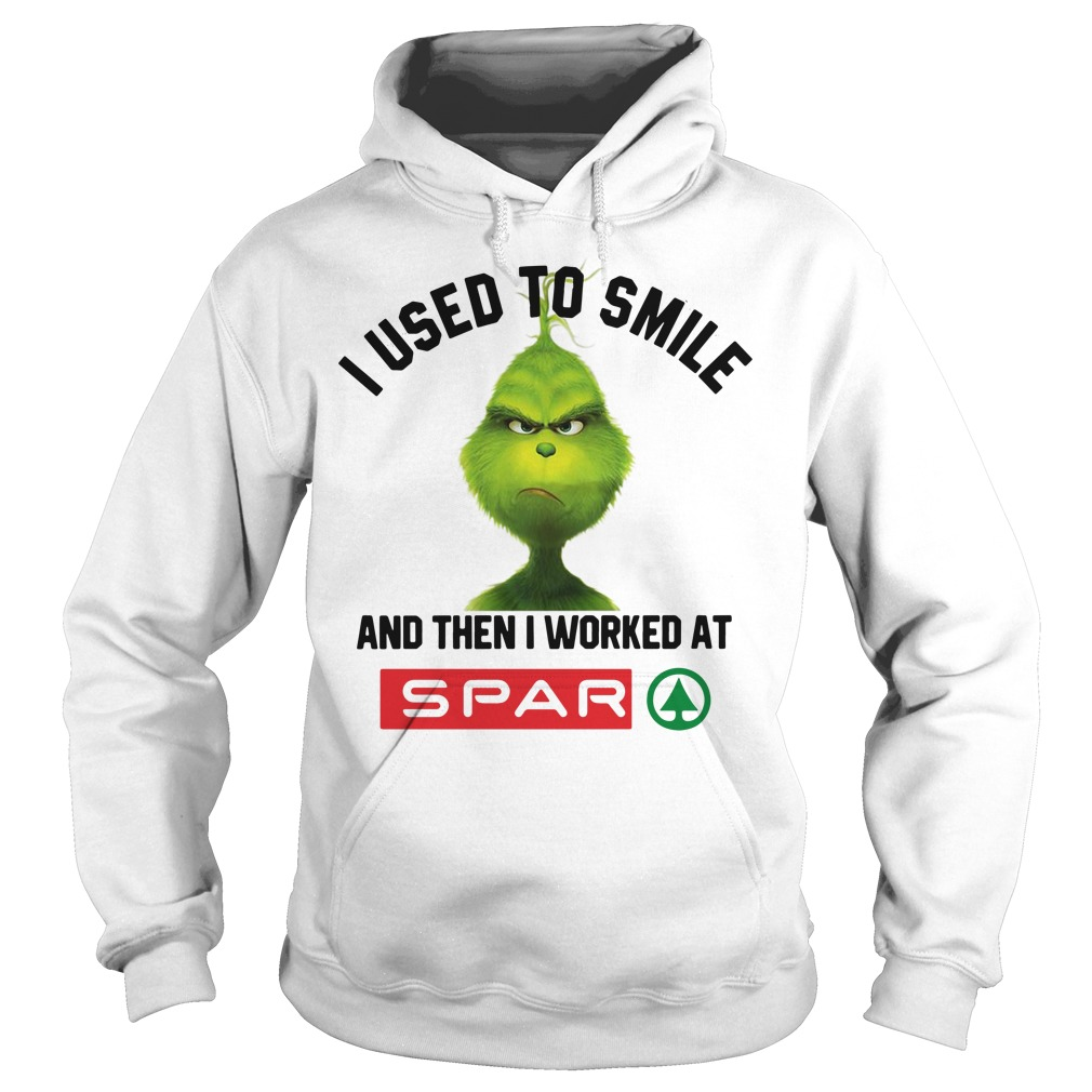 Grinch I Used To Smile And Then I Worked At Spar Hoodie