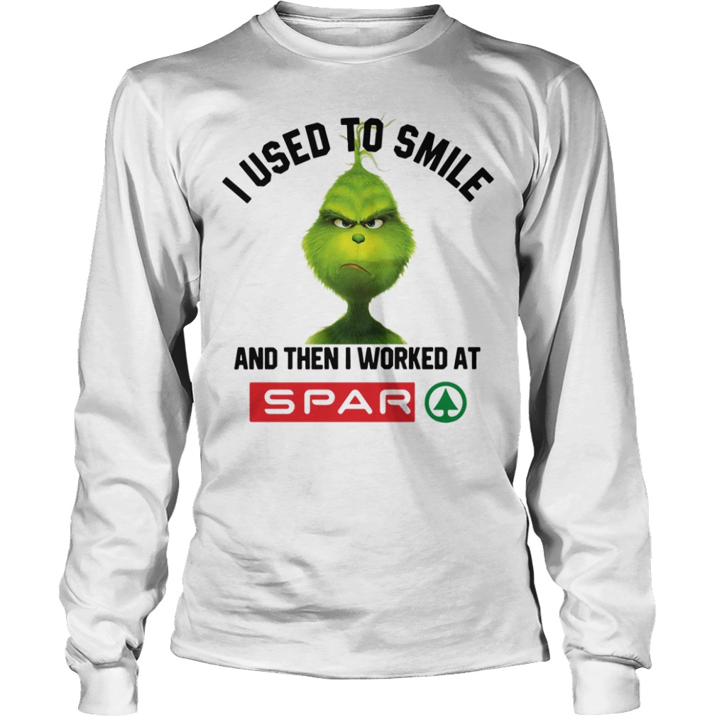 Grinch I Used To Smile And Then I Worked At Spar Longsleeve Tee