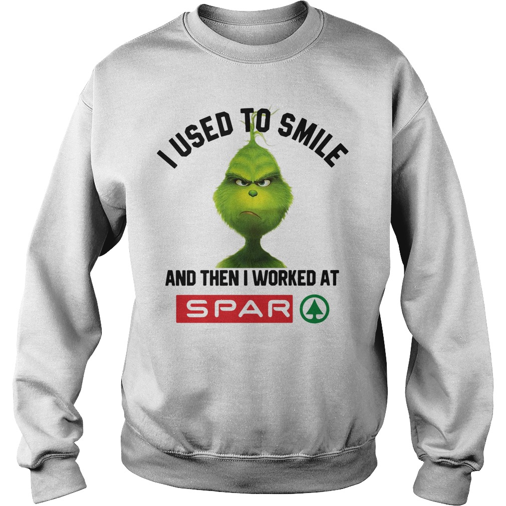 Grinch I Used To Smile And Then I Worked At Spar Sweater