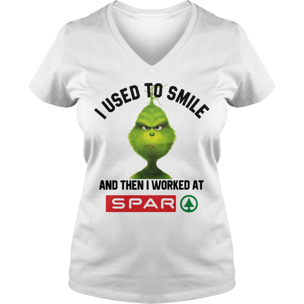 Grinch I Used To Smile And Then I Worked At Spar V-neck T-shirt