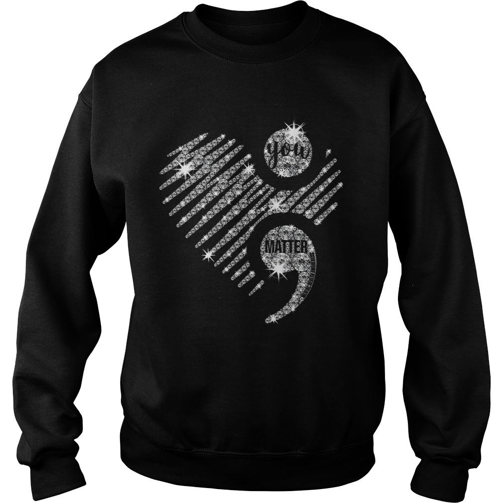 Heart Semicolon Mental Health Awareness Sweater