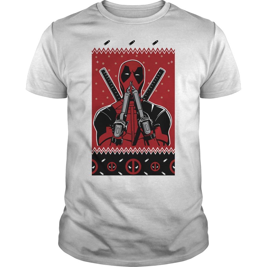 Merry Christmas Deadpool Fan Guys Shirt