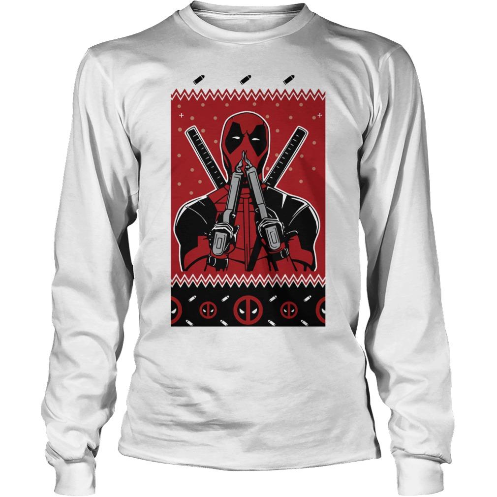 Merry Christmas Deadpool Fan Longsleeve Tee