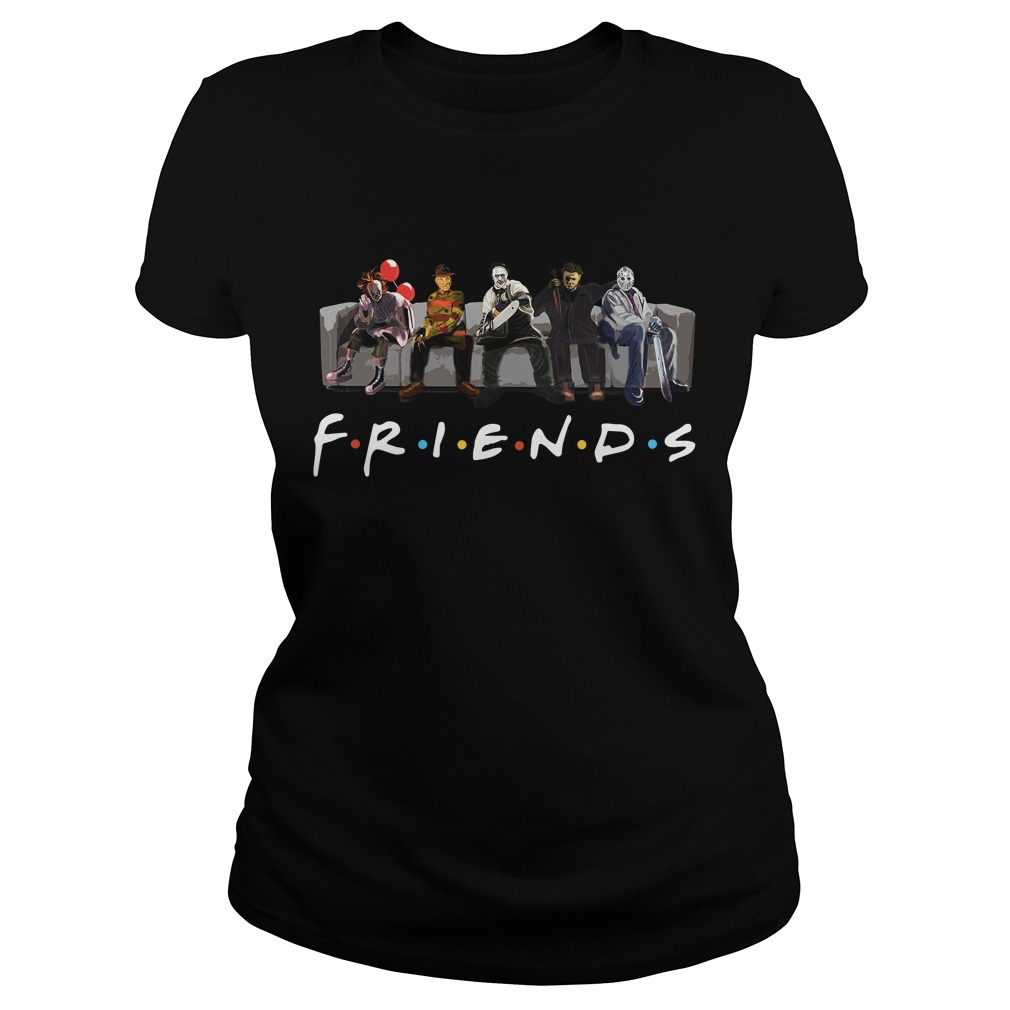 Official Horror Friends Halloween Ladies Tee