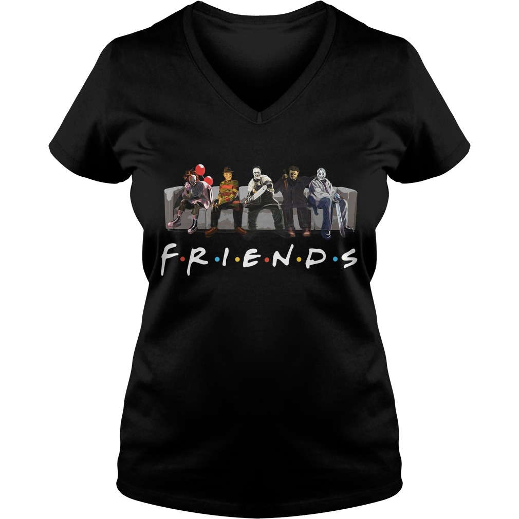 Official Horror Friends Halloween V-neck T-shirt