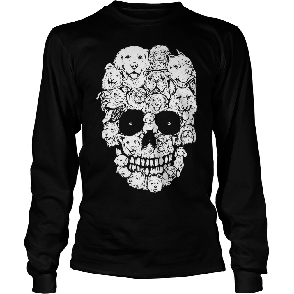 Official Skull Dogs Halloween Longsleeve Tee