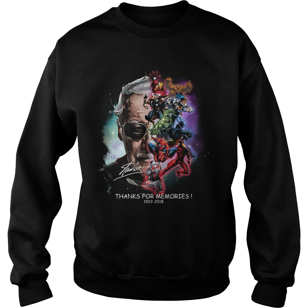 Stan Lee Thanks For Memories 1922 2018 Sweater