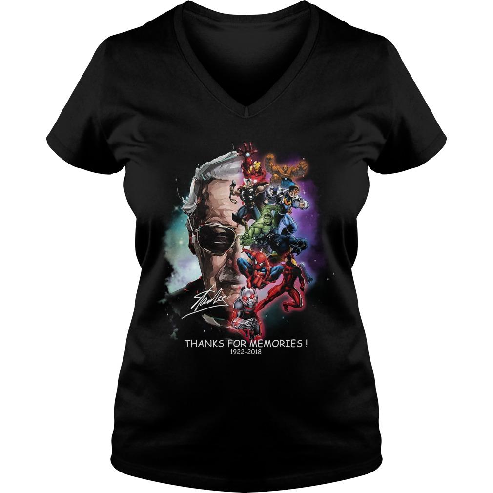 Stan Lee Thanks For Memories 1922 2018 V-neck T-shirt