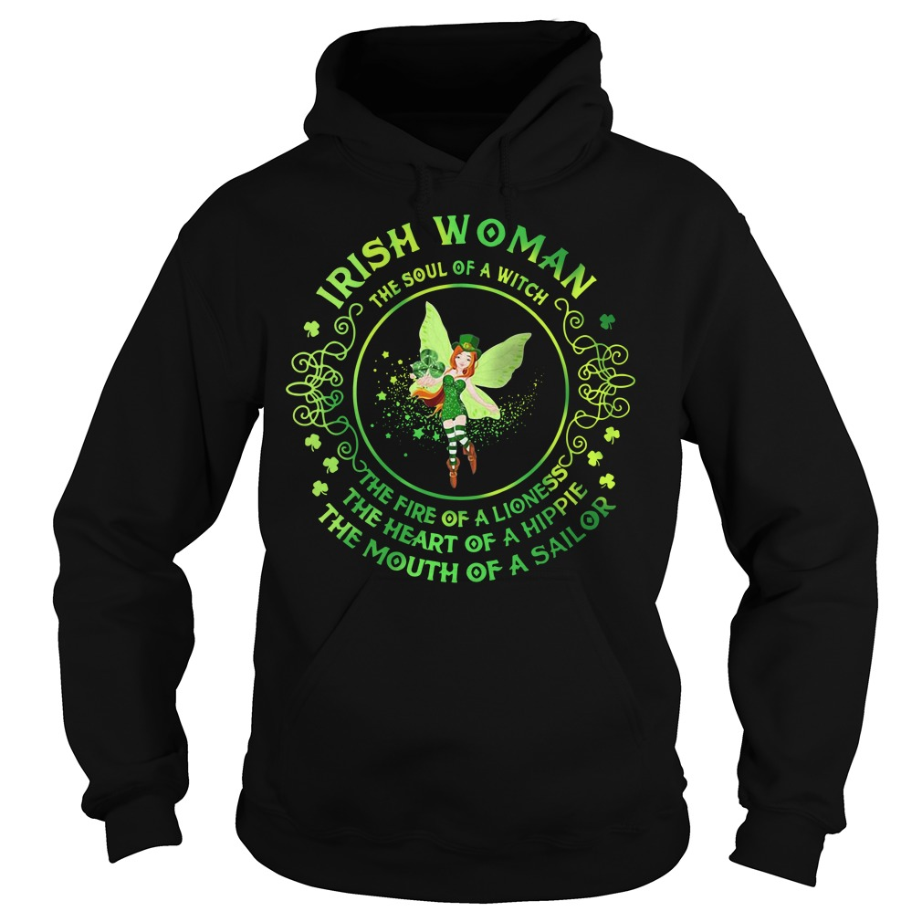 Irish Woman The Soul Of A Witch Hoodie