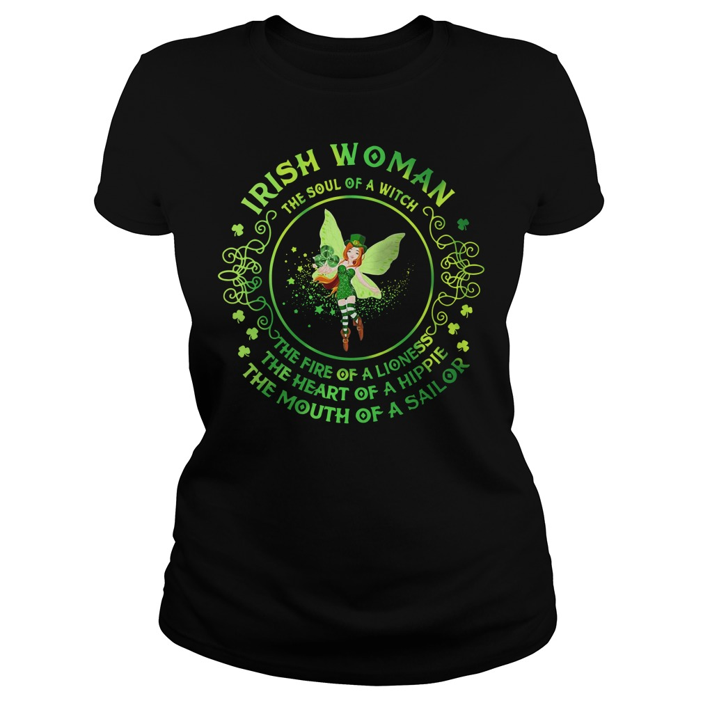 Irish Woman The Soul Of A Witch Ladies Tee