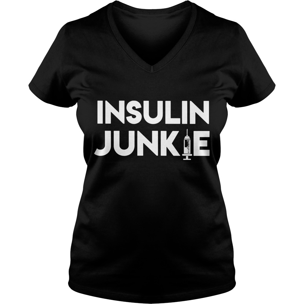 Official Insulin Junkie V-neck T-shirt