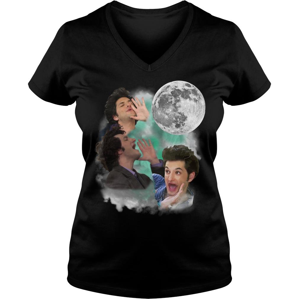 Official Three Jean Ralphio Moon V-neck T-shirt