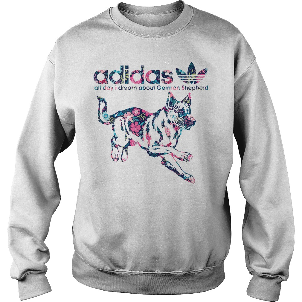 Adidas All Day I Dream About German Shepherd Sweater