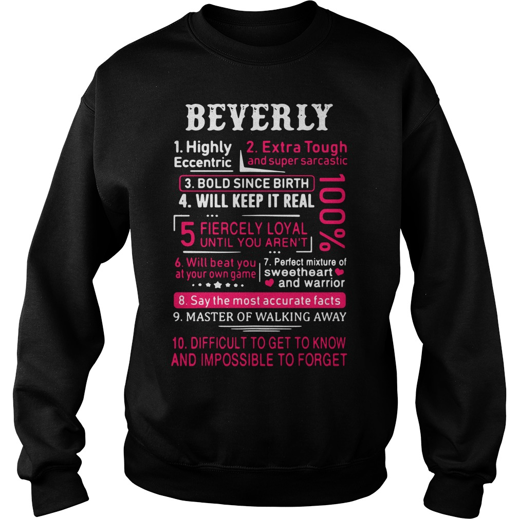 Beverly Highly Eccentric Extra Tough And Super Sarcastic Sweater