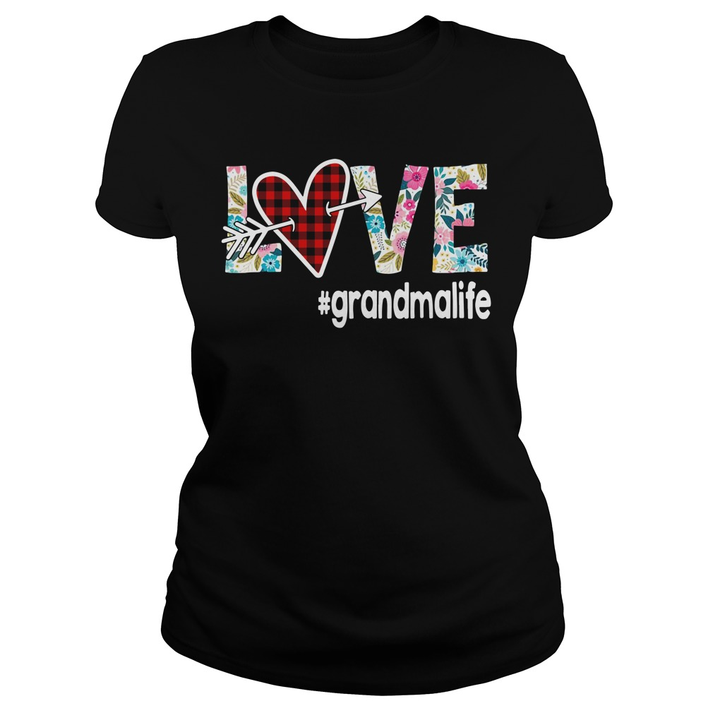 Love Grandmalife Flower Ladies Tee