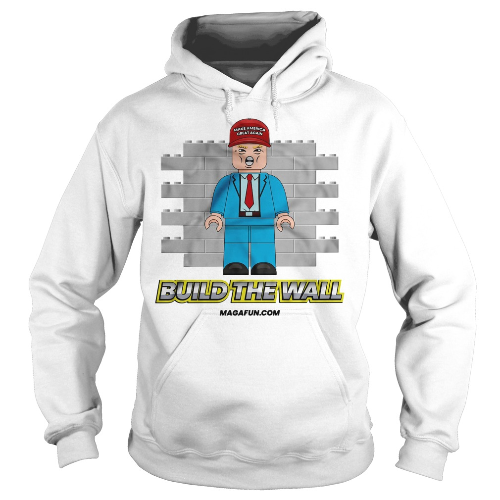 Official Donald Trump Build The Wall Lego Hoodie