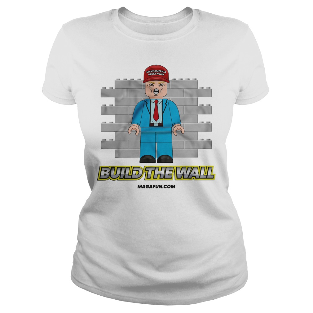 Official Donald Trump Build The Wall Lego Ladies Tee