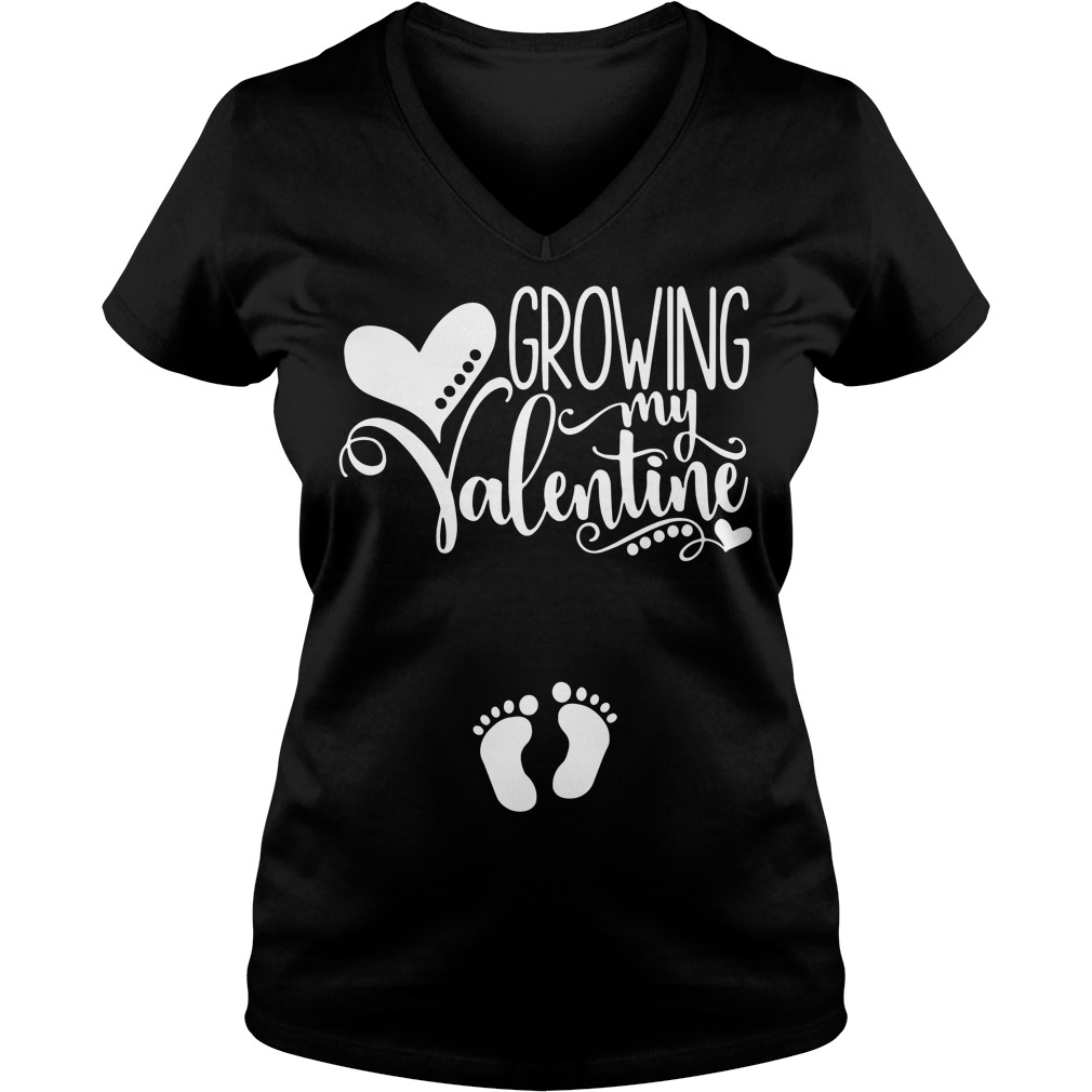 Official Growing My Valentine V-neck T-shirt