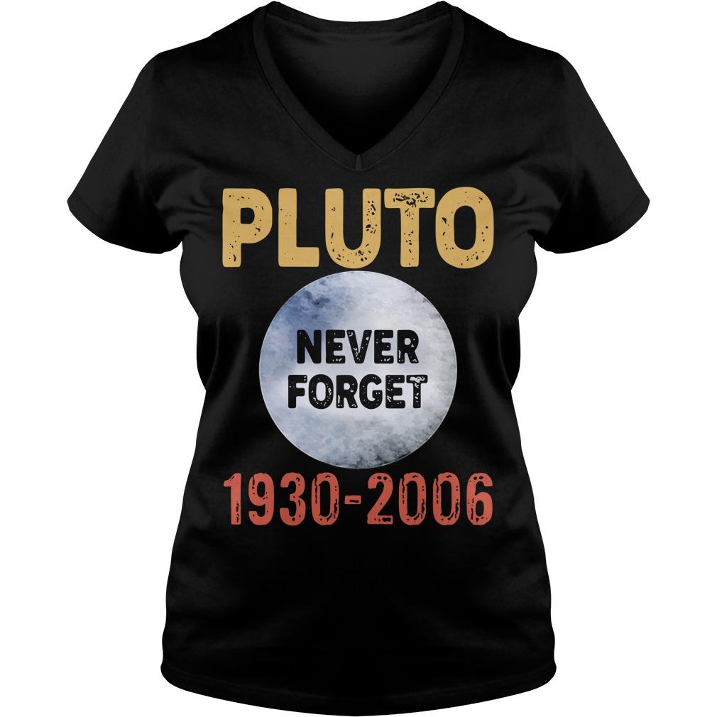 Pluto Never Forget 1930 2006 V-neck T-shirt
