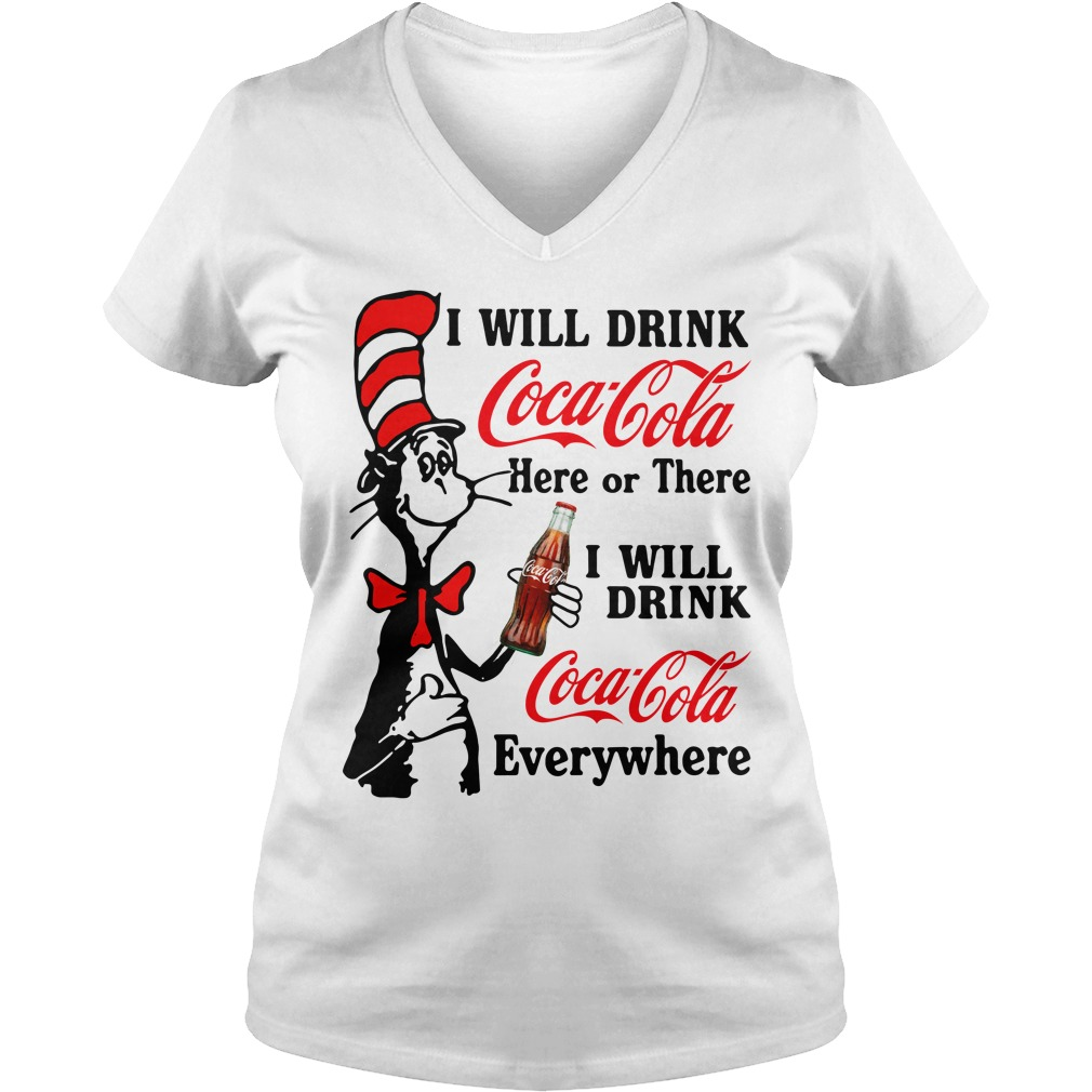 Will Drink Coca Cola Light Will Drink Coca Cola Everywhere V-neck T-shirt