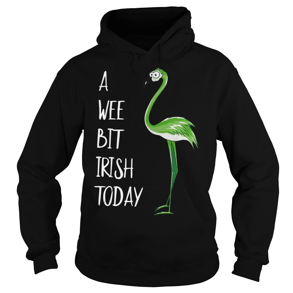 Flamingo A Wee Bit Irish Today Hoodie