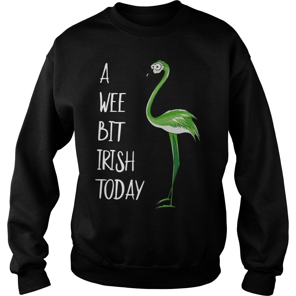 Flamingo A Wee Bit Irish Today Sweater
