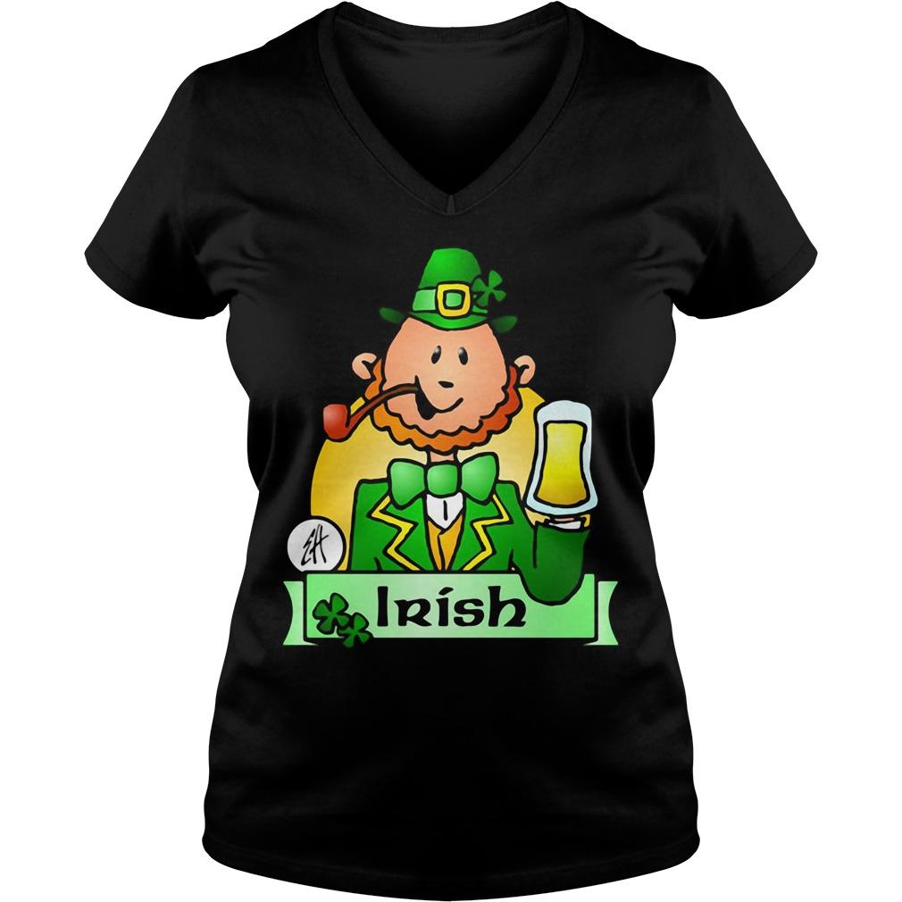 Irish Leprechaun Drink Beer V-neck T-shirt