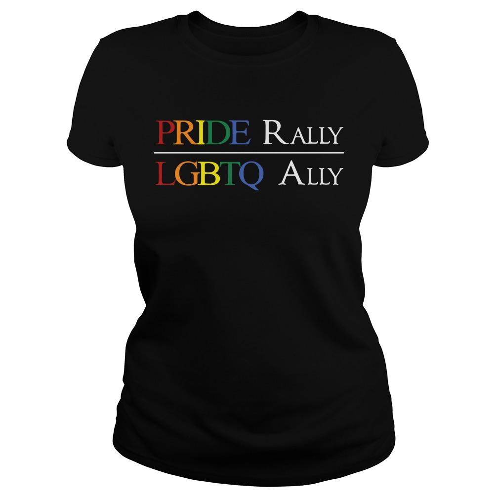 Pride Rally Lgbtq Ally Ladies Tee