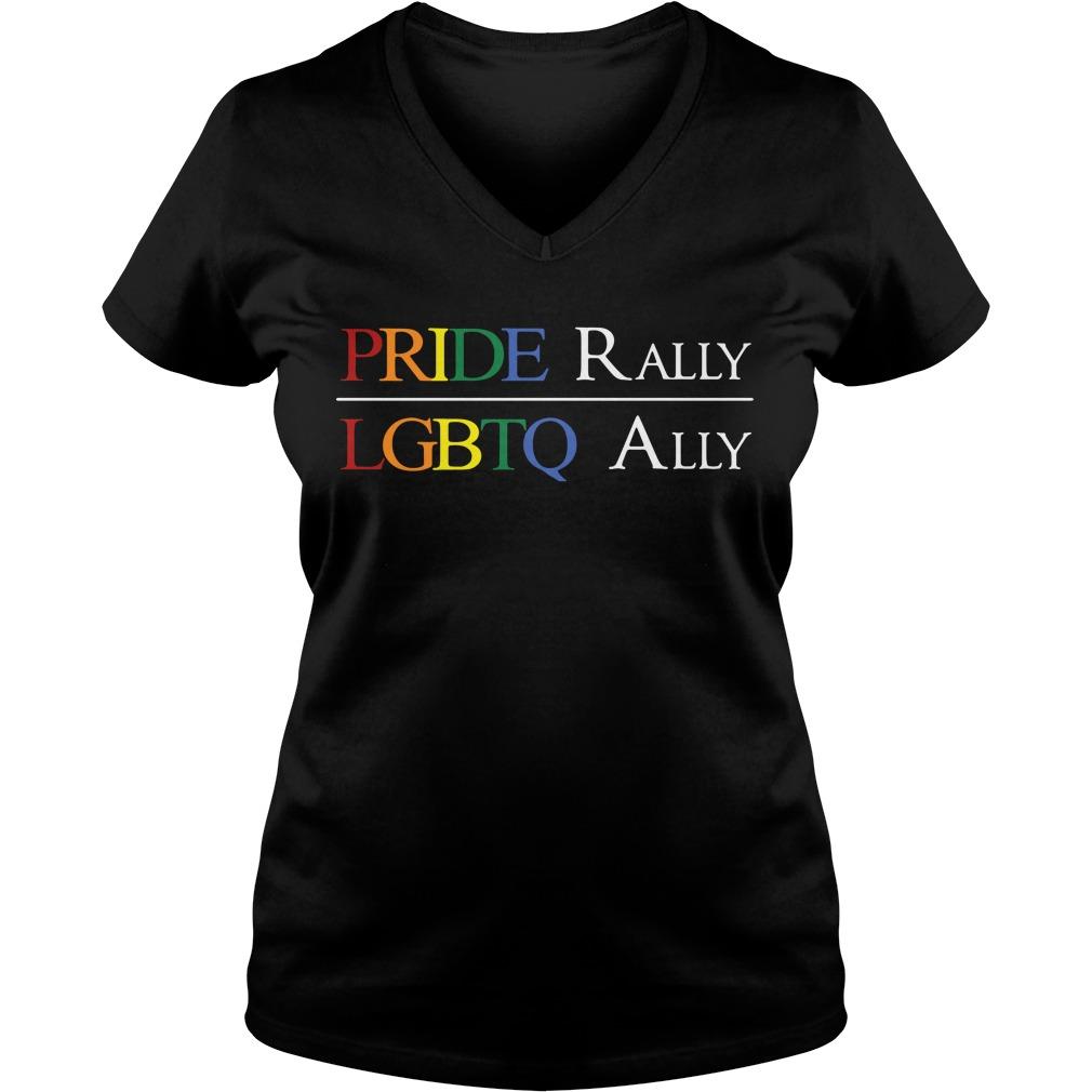 Pride Rally Lgbtq Ally V-neck T-shirt