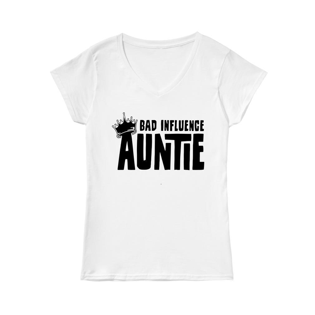 Bad Influence Auntie V-neck T-shirt