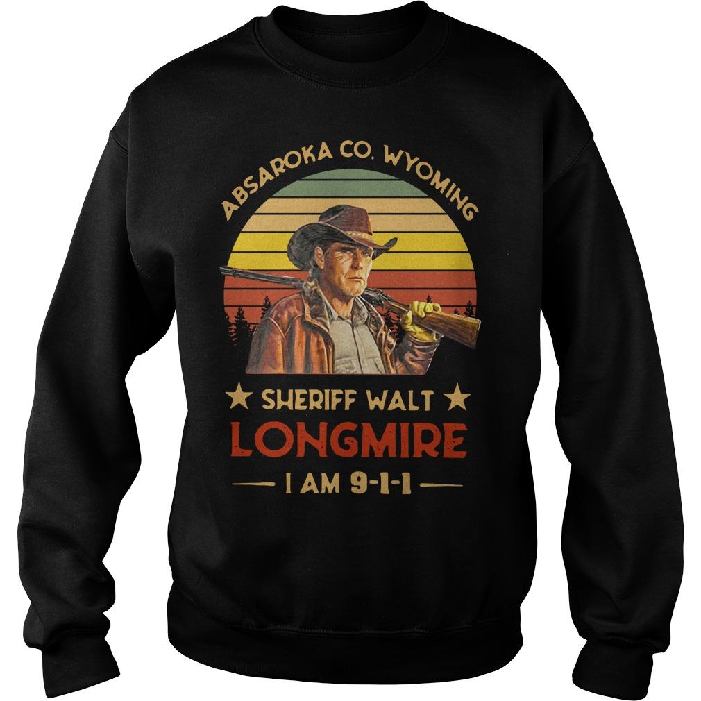 Absaroka County Wyoming Sheriff Walt Longmire I Am 911 Sweater