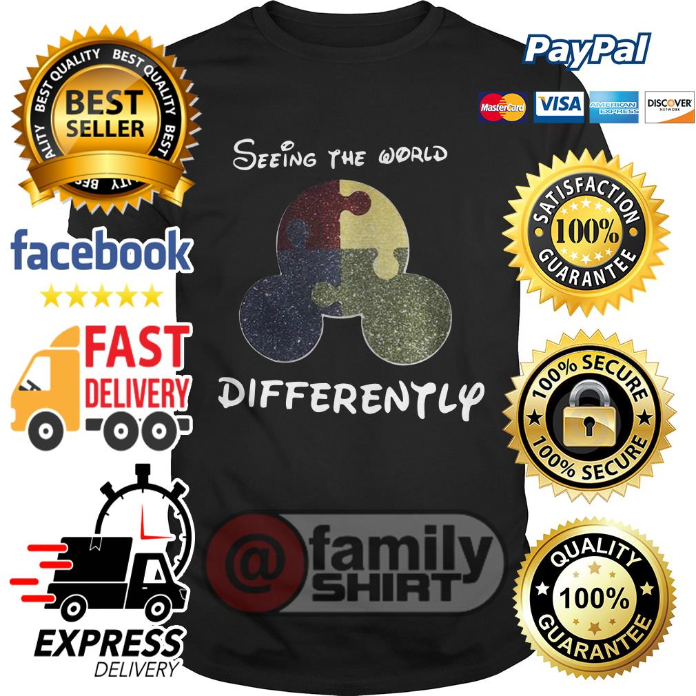 Autism Mickey Mouse Seeing The World Differently Shirt