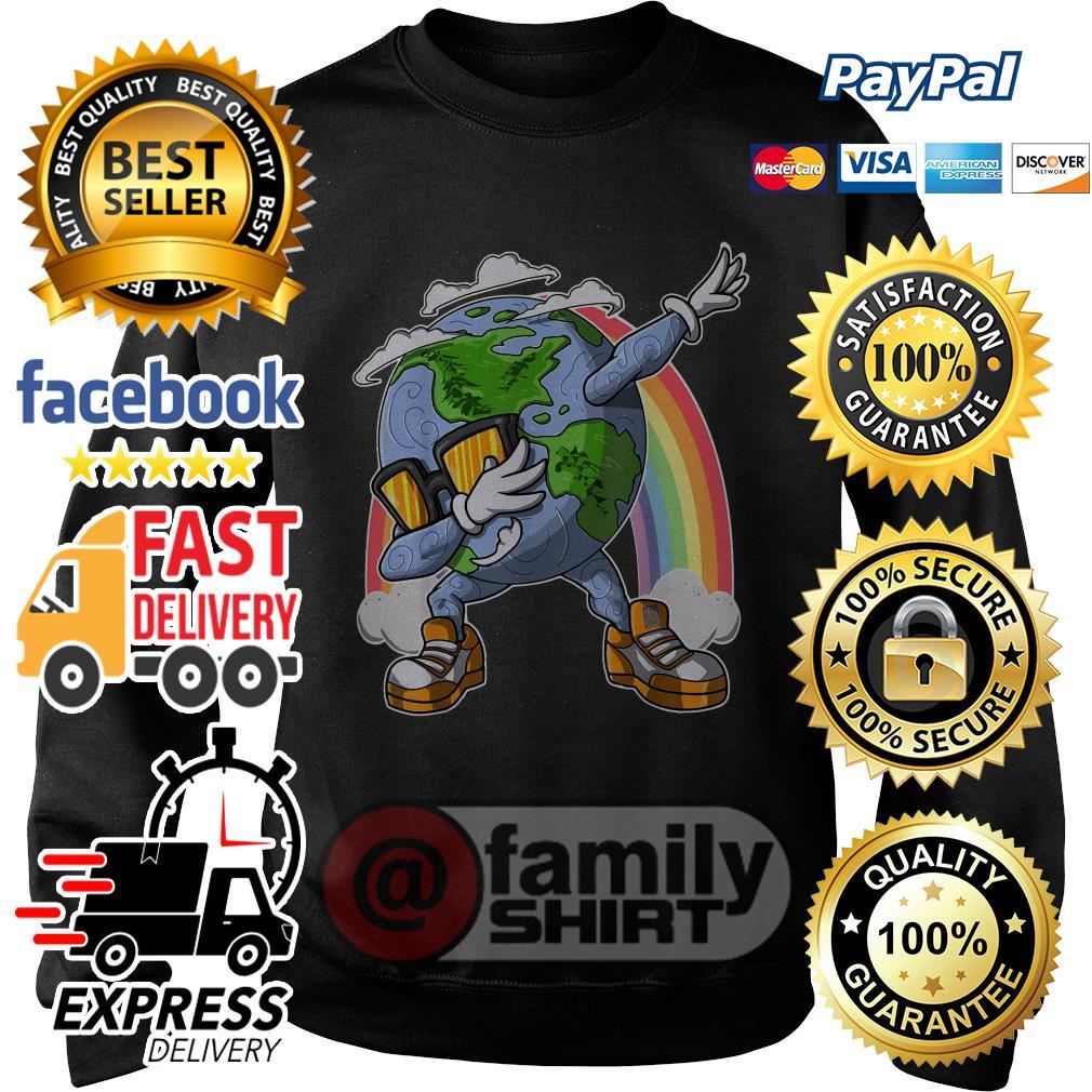 Earth Day Dabbing Rainbow Sweater